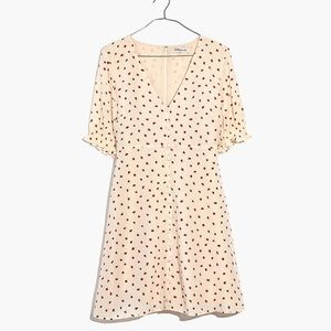 Madewell silk button-front dress